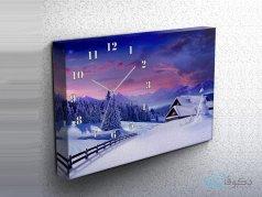 ساعت دیواری تابلوای طرح برف