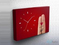 ساعت دیواری تابلوای طرح انگشتی 2