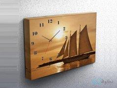 ساعت دیواری تابلوای طرح قایق 2