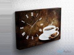 ساعت دیواری تابلوای طرح فنجان