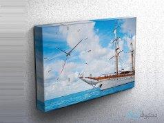 ساعت دیواری تابلوای طرح قایق 4