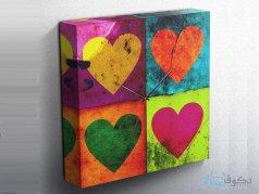 ساعت دیواری تابلوای طرح قلب