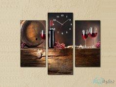 ساعت دیواری تابلو ای سه تکه طرح می 2