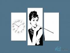 ساعت دیواری تابلو ای سه تکه ای طرح رومانتیک