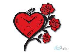 ساعت دیواری regal طرح گل قرمز