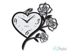 ساعت دیواری regal طرح گل سفید