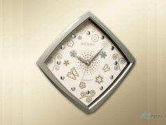 ساعت دیواری regal مدل پروانه نقره ای