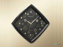 ساعت دیواری regal مدل پروانه مشکی