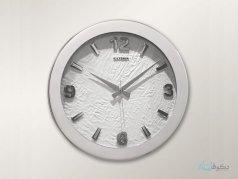 ساعت دیواری ultima مدل چرم سفید