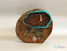 ساعت رومیزی چوبی پرنده