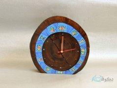 ساعت رومیزی چوبی دریایی