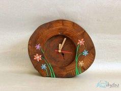 ساعت رومیزی چوبی گلخونه