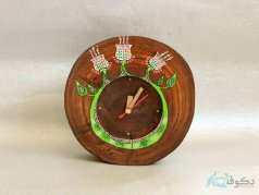 ساعت رومیزی چوبی شاخسار