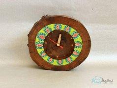 ساعت رومیزی چوبی خورشید نشان