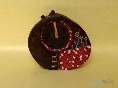 ساعت رومیزی چوبی کاشی