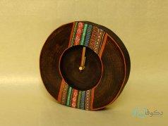 ساعت رومیزی چوبی گلیم