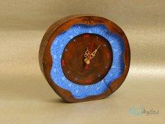 ساعت رومیزی چوبی حوضچه