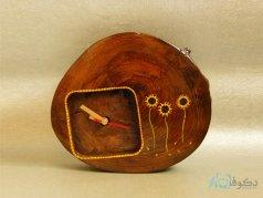 ساعت رومیزی چوبی مزرعه