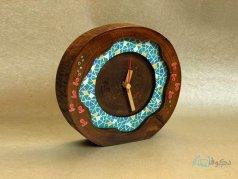 ساعت رومیزی چوبی نمو
