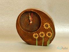 ساعت رومیزی چوبی آفتابی