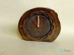 ساعت رومیزی چوبی نرگس