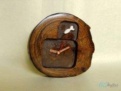ساعت رومیزی چوبی ماهی 2