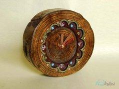 ساعت رومیزی چوبی آفتابگردون