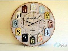 ساعت دیواری چوبی Grand hotel