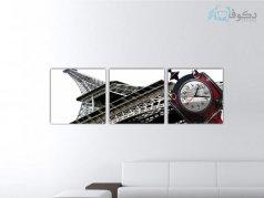 ساعت دیواری تابلوای 3تکه مدل PS88