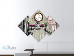 ساعت دیواری تابلوای 4تکه مدل PS51