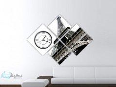 ساعت دیواری تابلوای 4 تکه مدل PS4