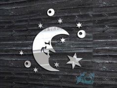 آینه فانتزی طرح ماه و ستاره