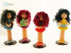 عروسک های نوازنده مو فر