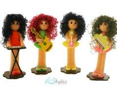 عروسک های نوازنده مو فر 2
