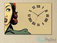 ساعت دیواری تابلوای طرح چهره