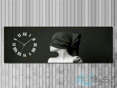 ساعت دیواری تابلوای طرح زیبا