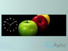 ساعت دیواری تابلوای طرح سیب