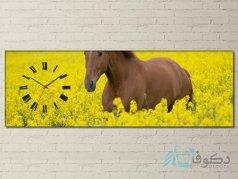 ساعت دیواری تابلوای طرح اسب