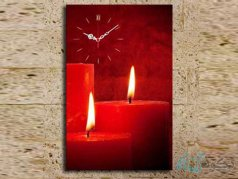 ساعت دیواری تابلوای طرح شمع
