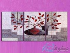 ساعت دیواری تابلوای مدل گلدان