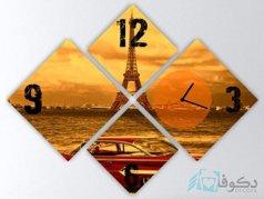 ساعت دیواری تابلوای 4تکه مدل PS36