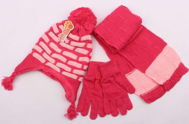 ست کلاه، شال گردن و دستکش (8-5 سال)