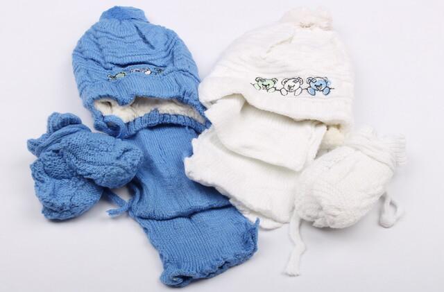 کلاه و شال و دستکش(6-0 ماه)