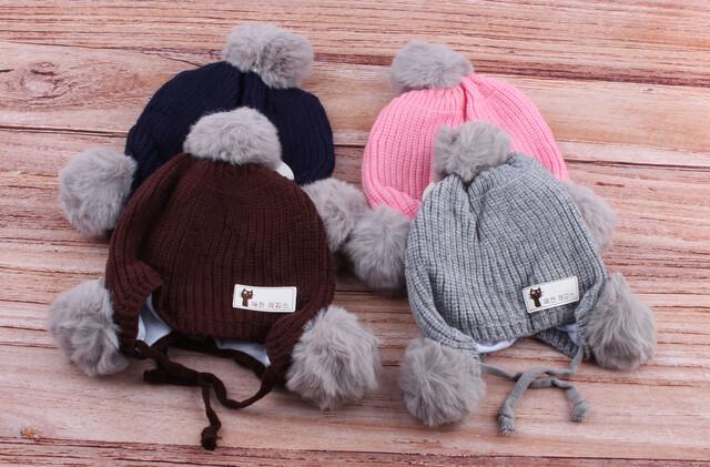 کلاه بافت منگوله دار (12-6 ماه)