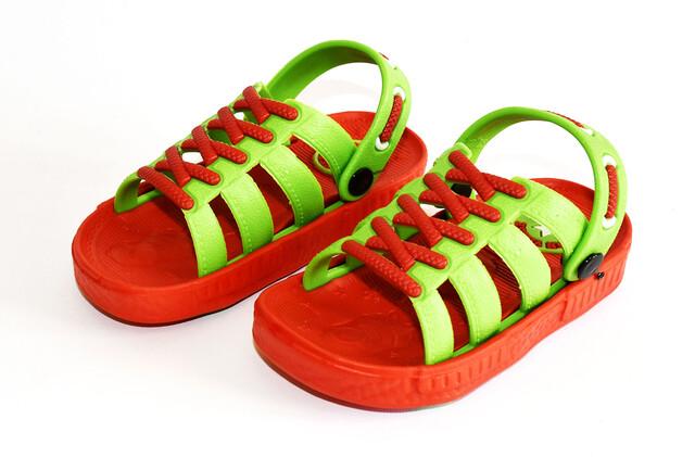 دمپایی بچه گانه طرح بندی (رنگ قرمز)