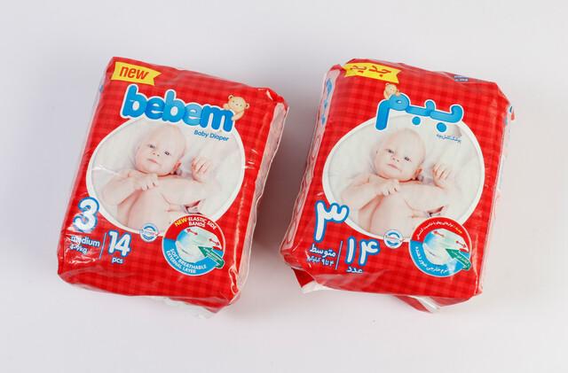 پوشک سایز 3 ببم bebem بسته 14 عددی