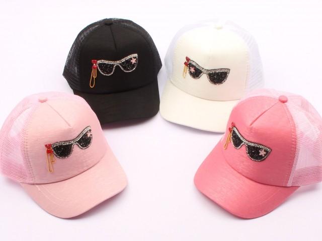 کلاه لبه دار طرح عینک (6 سال به بالا)