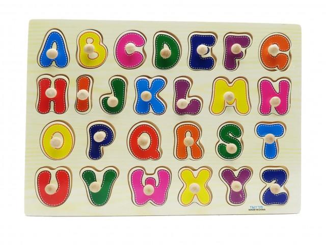 پازل چوبی پین دار حروف انگلیسی
