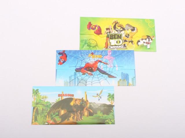 پاکت پول کارتونی (3 عددی/ تنوع طرح و رنگ)