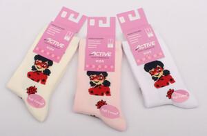 جوراب ساق دار دختر کفشدوزکی (7-6 سال)